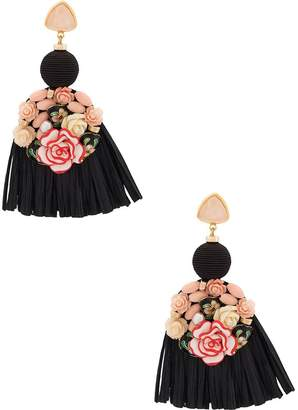 Lizzie Fortunato Dolce Vita fringed earrings
