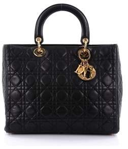 Christian Dior Pre-owned: Lady Dior Handbag Cannage Quilt Lambskin Large.