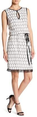 Blend of America Iren Klairie Printed Keyhole Silk Dress
