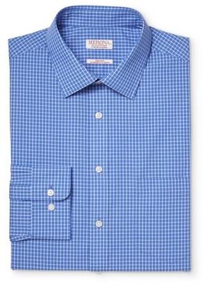 Merona Men's Big & Tall Button Down Dress Shirt Blue Check $32.99 thestylecure.com