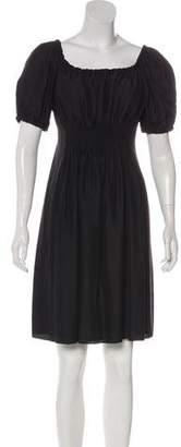 Prada Sport Ruched Mini Dress