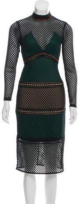 Self-Portrait Long Sleeve Midi Dress w/ Tags