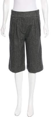 Chloé Woven Wool Shorts