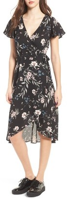Women's Socialite Floral Print Wrap Dress $59 thestylecure.com