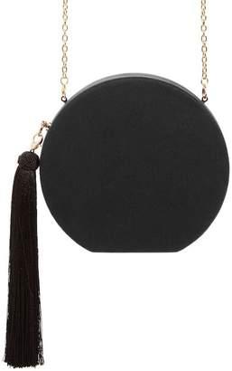 Natasha Accessories Couture Round Tassel Clutch