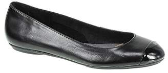 Hush Puppies Chaste Toe Cap Blk Flats Women