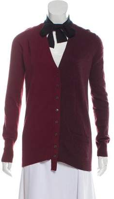 Marc Jacobs Wool and Cashmere Blend Colorblock Cardigan