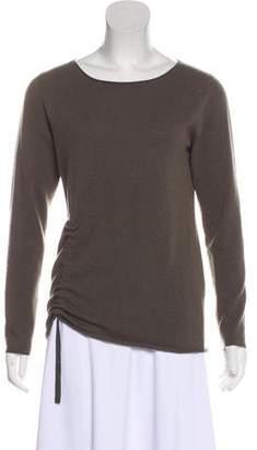 Fabiana Filippi Merino Wool Ruche-Accented Sweater