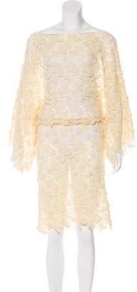 Alexis Crochet Knee-Length Dress w/ Tags