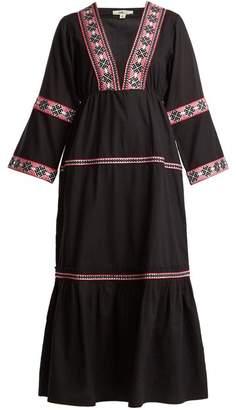 Daft - Istanbul Geometric Pattern Web Dress - Womens - Black Multi