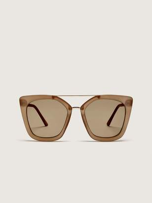 Sunglasses with Metallic Brow Bar