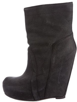 Rick Owens Platform Wedge Ankle Boots $280 thestylecure.com