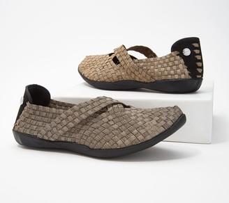 Bernie Mev. Basket Weave Mary Jane Slip-On Shoes - Margo