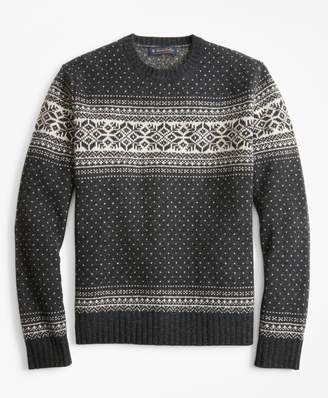 Brooks Brothers Snowflake Crewneck Sweater