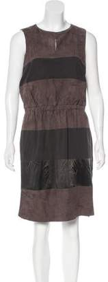 Fabiana Filippi Suede-Paneled Silk Dress