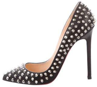 Christian Louboutin Spike Pointed-Toe Pumps