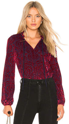 LAmade Stevie Velvet Blouse