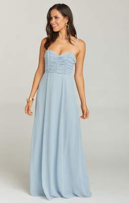 a4db5a621f5ee Show Me Your Mumu Bonbon Strapless Dress ~ Steel Blue Chiffon