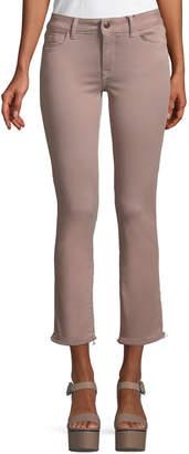 DL1961 Premium Denim Mara Instasculpt Ankle Skinny Jeans, Dusty Rose