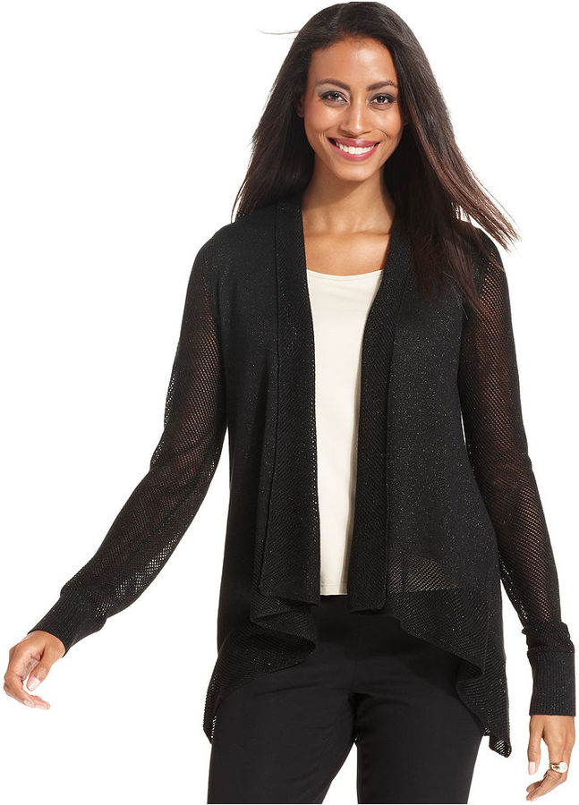 Charter Club Long-Sleeve Open-Front Cardigan
