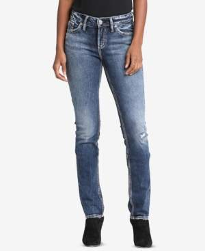 Silver Jeans Co. Elyse Curvy-Fit Relaxed Straight-Leg Jeans