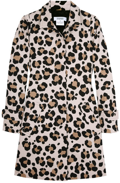 Sonia by Sonia Rykiel Leopard Cotton Belted Trench