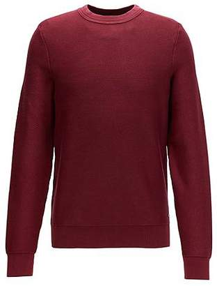 HUGO BOSS Crew-neck sweater in stonewashed cotton
