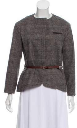 Fabiana Filippi Wool Plaid Jacket