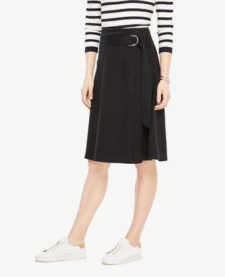 Ann Taylor Belted Circle Skirt