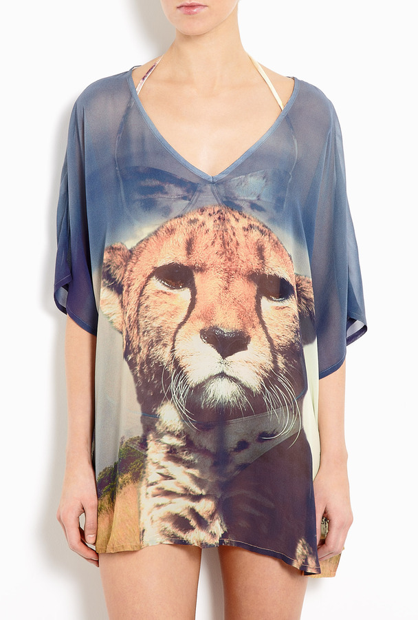 We Are Handsome Silk Cheetah Cover Up
