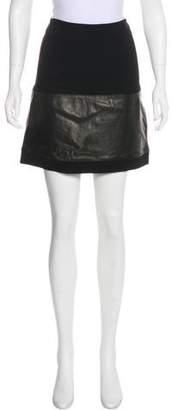 Diane von Furstenberg Caitlin Leather-Paneled Skirt