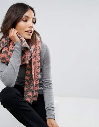 Alice Hannah Vertical Star Jacquard Shawl