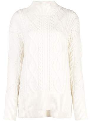 Proenza Schouler Turtleneck Oversized Cable Knit Sweater