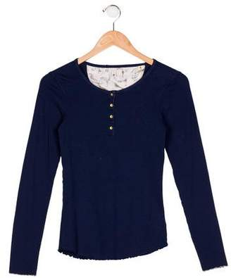 Scotch & Soda Girls' Knit Long Sleeve Top