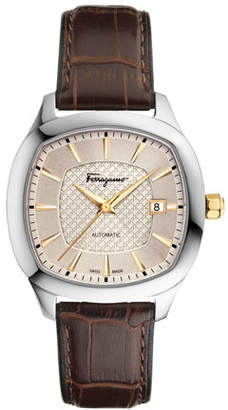 Salvatore Ferragamo Automatic Square Leather Watch