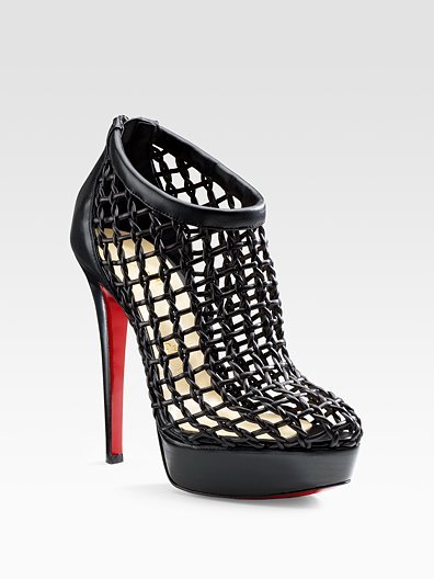 Christian Louboutin Coussin Caged Ankle Boots