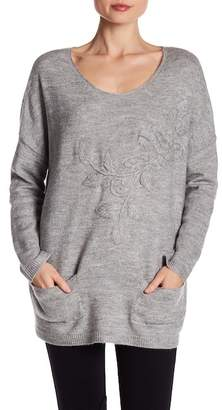 Karen Kane Embroidered Sweater