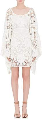 Chloé WOMEN'S COTTON CROCHET OFF-THE-SHOULDER DRESS