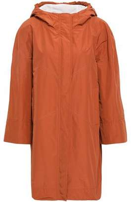 Brunello Cucinelli Bead-embellished Shell Hooded Raincoat
