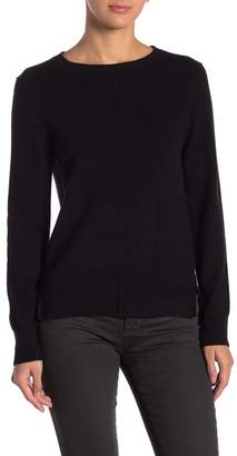 In Cashmere Hi-Lo Crew Neck Cashmere Sweater