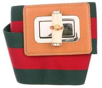 Gucci Web Bamboo Waist Belt