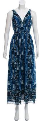 Anna Sui Printed Sleeveless Maxi Dress