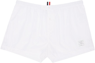 Thom Browne Off-White Poplin Boxers $125 thestylecure.com