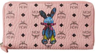 MCM Rabbit Visetos Zip Around Wallet