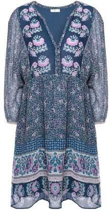 Joie Floral-Print Silk-Chiffon Mini Dress