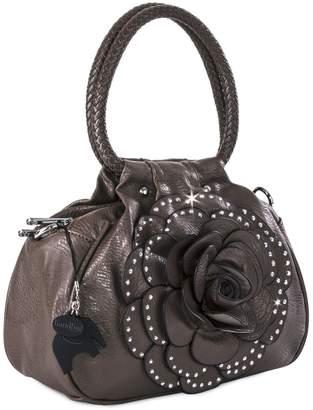 Big Handbag Shop Small Floral Dimante Top Handle Multiple Zip Pocket Chic Bag