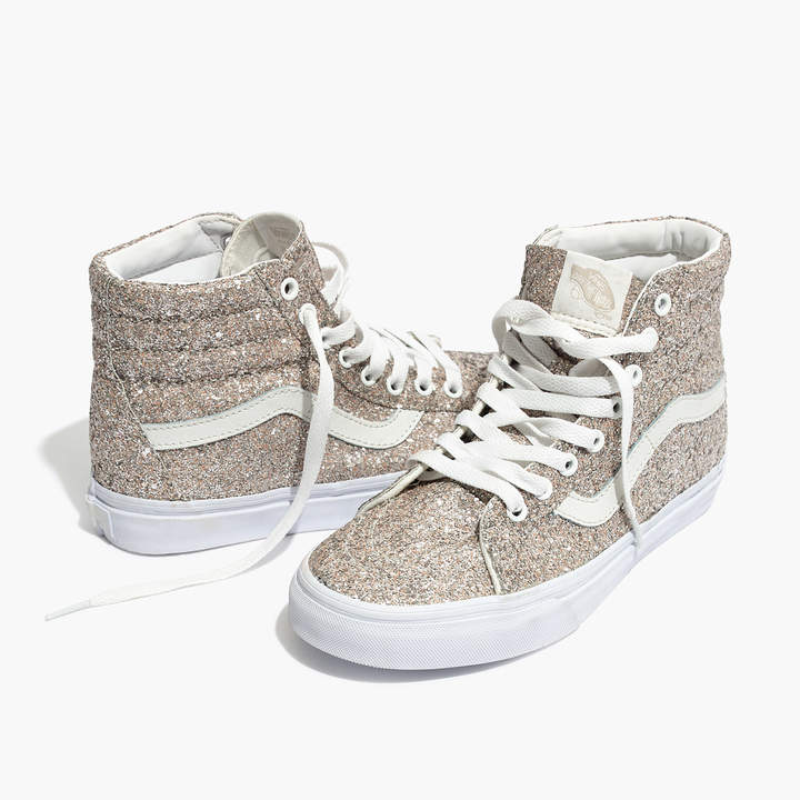 Vans® Unisex SK8-Hi High-Top Sneakers in Glitter