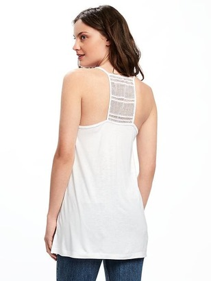 Relaxed Lace-Back Tank for Women $17.94 thestylecure.com