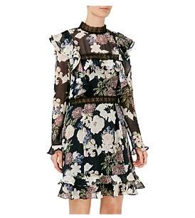Nicholas Thistle Floral Mini Dress