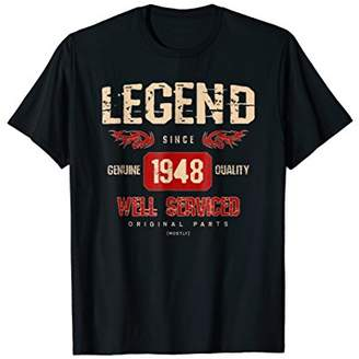PeakTee Legend 1948 Well Serviced 70th Birthday Gift T-Shirt